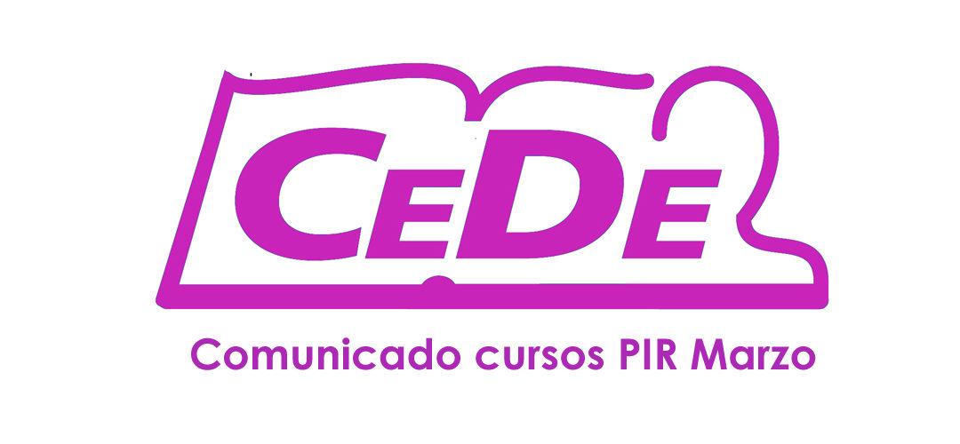 COMUNICADO CURSOS PIR MARZO Y CURSOS PSICÓLO MILITAR