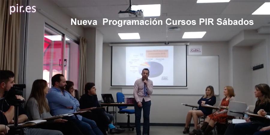 Nueva programación de nuestros cursos PIR de sábados