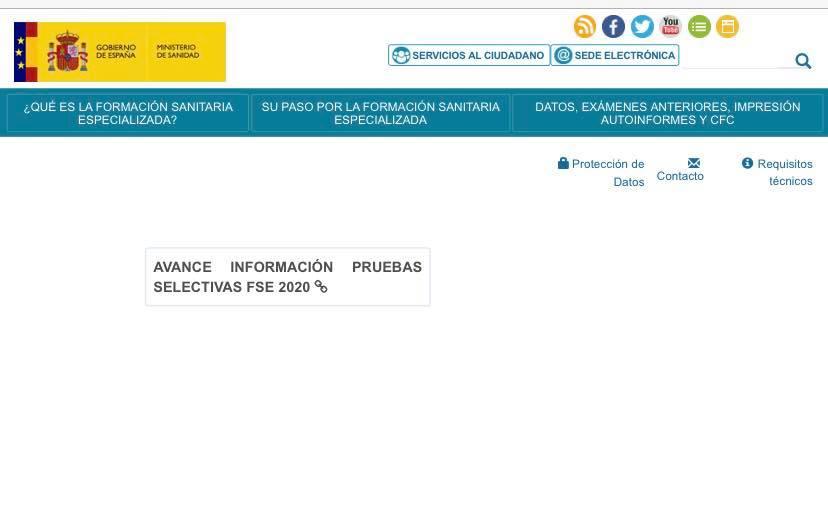 Publicado avance información pruebas selectivas FSE Convocatoria 2020